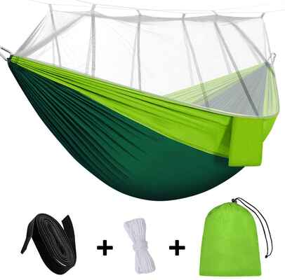 9. Rusee Camping Hammock with Mosquito Net
