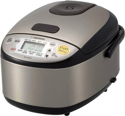 4. Zojirushi NS-LGC05XB Rice Cooker and Warmer, 3-Cups