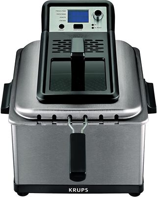 5. KRUPS Silver 4.5 Liter KJ502D51 Stainless Steel 6.7lbs Professional Stainless Steel Electric Deep Fryer