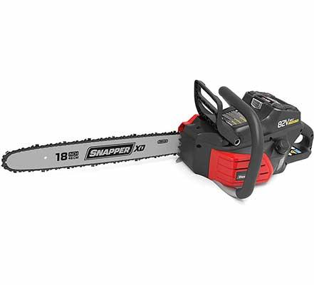 #5. Snapper 18 Inch Oregon Bar w/Auto-Oiling Unit XD 82V Electric Cordless Max Chainsaw