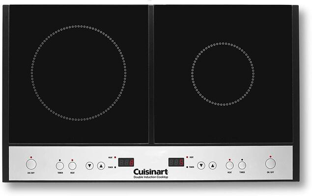 7. CUISINART Black One-Size ICT-60 Glass 11.6lbs Touch Control Double Induction Cooktop