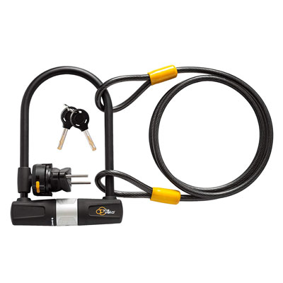 8. Via Velo Bike Lock with a Cable, Excellent Bike Safety Tool