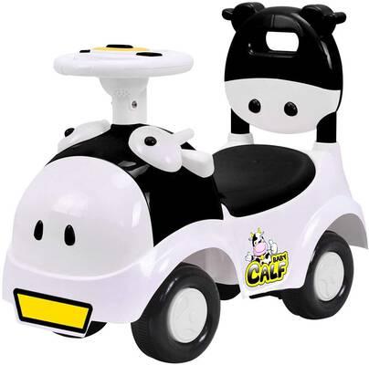 #10. POCO DIVO 3-in-1 Baby Calf Walker Toy Sliding Car- Black/White