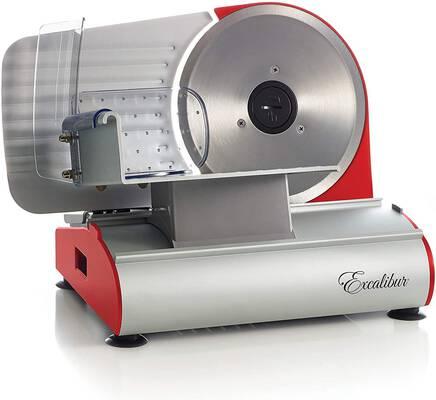5. Excalibur 7.5 Inch EHSP75R DIY 200W Deli-Style Cuts Electric Food Slicer w/Smooth Blade (Red)