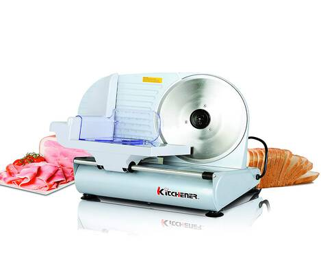 7. Kitchener 150W Stainless Steel Blade 9 Inch Professional Electric Meat Deli Food Slicer