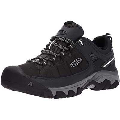 1. KEEN Rubber Sole Dry Waterproof Breathable Membrane Men's Targhee Hiking Shoes
