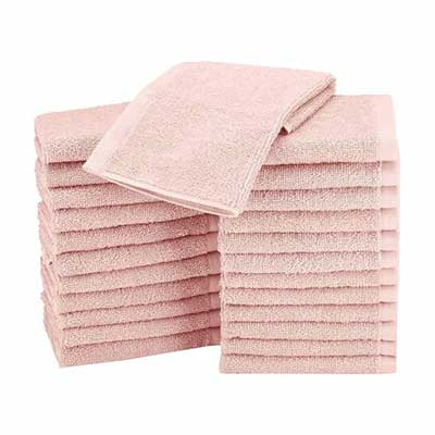 #7. AmazonBasics WashCloth Face Towels