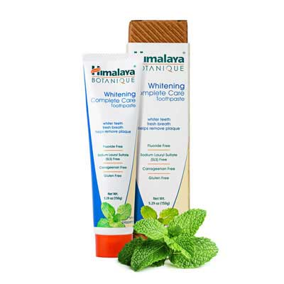 #3. Himalaya Natural Simply Peppermint 4 Pack 5.29oz Whitening Toothpaste