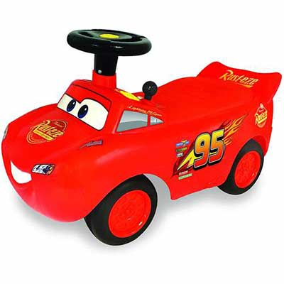 #9. Kiddieland Toys Limited McQueen Racer Ride-On