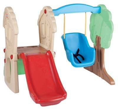 #1. Savings Supreme New Indoor & Outdoor Toddler Swing Set Swing N Slide Safe for Kids