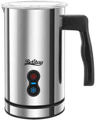 7. Betitay Milk Frother Stainless Steel Non-stick Electric Hot Milk Heater