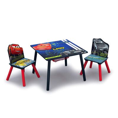 10. Delta Children Car Craft Study Kids Table and Chairs Set with Two Included Chairs