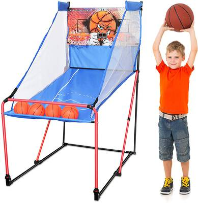#6. Sportcraft Basketball Arcade Game, Indoor Play Equipment