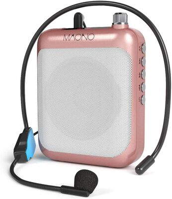 8. MAONO C01 Voice Amplifier Portable Mini-Speaker w/Wired Microphone Headset & Waistband