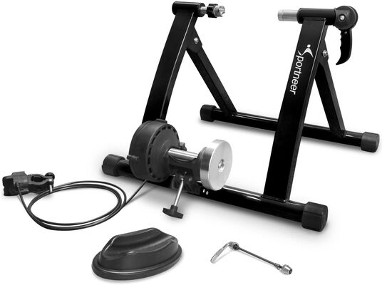 8. Sportneer Magnetic Exercise Steel Bike Trainer Stand for Mountain and Road Bikes