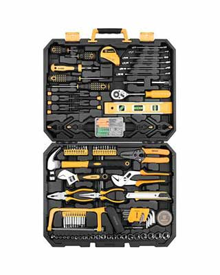 #5. DEKOPRO 168-Pcs Socket Wrench Auto-Repair Tool Mixed Tool Set w/Toolbox Storage Case