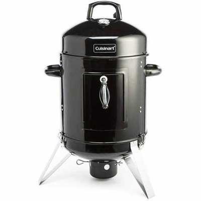 9. Cuisinart COS-116 16Inch Charcoal Lathing Base Vertically Hitched Door Electric Smoker