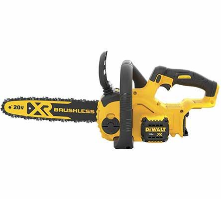 #3. DEWALT 20V DCCS620B Compact Cordless Chainsaw Kit Bare Tool w/Brushless Motor