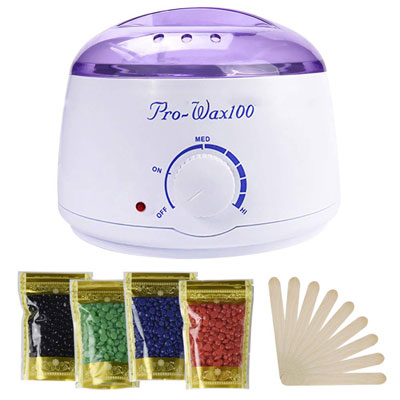 4- Wax Warmer, Portable Electric Hair Removal Kit