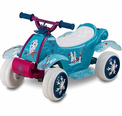 8. Kid Trax 6V Battery-Powered Ride-On Quad Toy