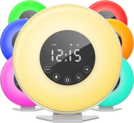 10. Homelabs Touch Control Sunrise Alarm Clock with 6 Color Switch for Bedrooms