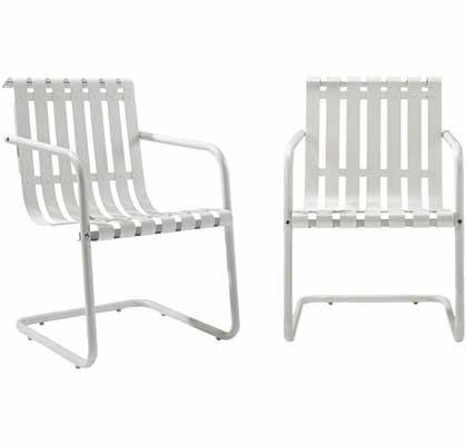 7. Crosley Furniture Retro Patio Set (Set of 2)