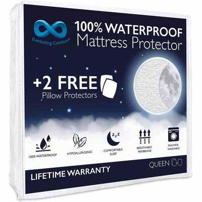 9. Everlasting Queen Size Comfort Waterproof Mattress Protector