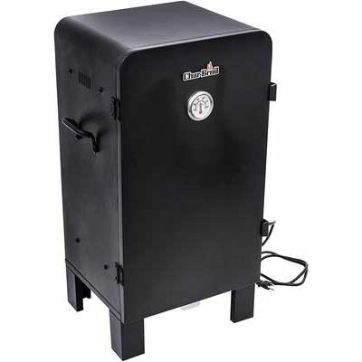 10. Char-Broil Door Mounted Temp Gauge Front Access Water Tray Analog Electric Smoker