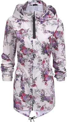 #4. SoTeer Outdoor Hooded Packable Women's Rain Jacket Waterproof Windbreaker S-XXL