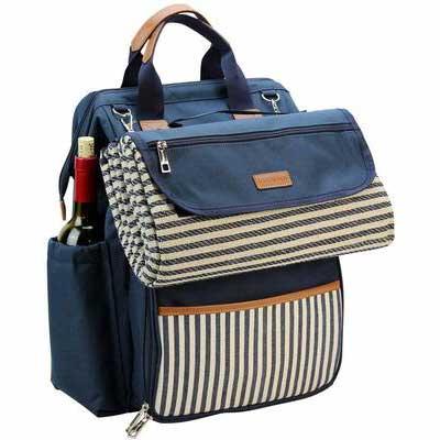 1. INNO STAGE Wide Picnic Bag for 4, Navy Blue Color