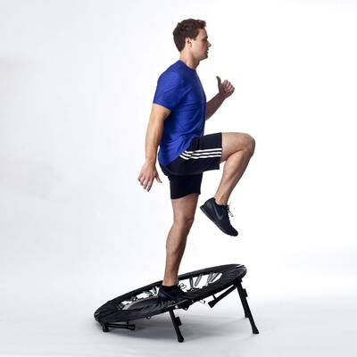 #1. Maximus HIIT Workout Trampoline Bounce Pro Folding Rebounder for High-Intensity Cardio Exercise
