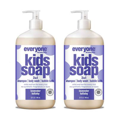#10. Everyone 3-in-1 Pack of 2 Gentle & Natural Shampoo Body Wash 33 Fl. Oz. Hand Soap