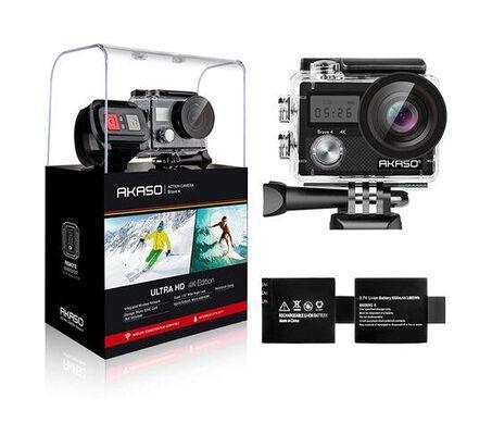 6. Akaso Waterproof Underwater Ultra HD WIFI Action Camera with Helmet Accessories Kit