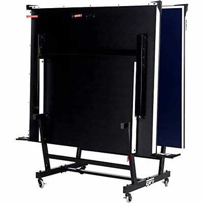 #6. ESPN Lockable Caster Fold-Up Design New Super Table Tennis Table w/Table Cover