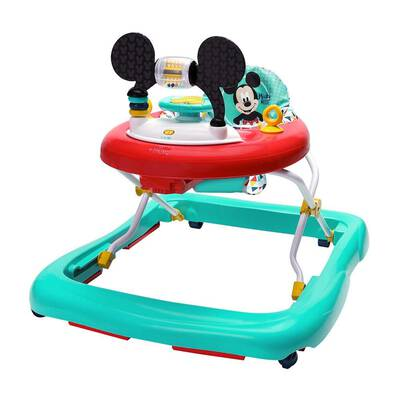 #1. Bright Starts MICKEY MOUSE Happy Triangles Walker 3 Height Positions w/Removable Toy Station
