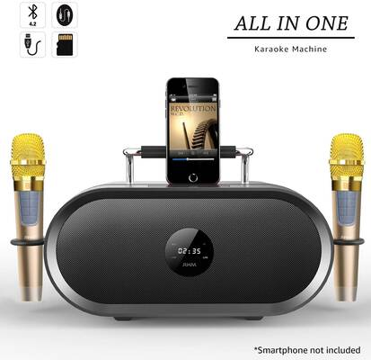 3. RHM 2 Rechargeable Battery Wireless Microphones Portable Speaker PA Speaker Kit