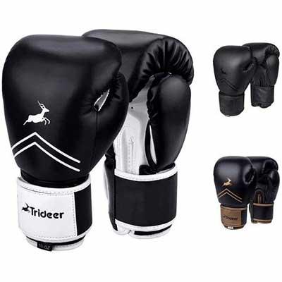 #9. Trideer Pro Grade Boxing Gloves