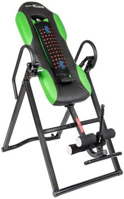 #10. Body Extreme Fitness Comfort Foam Backrest Advanced Heat & Massage Inversion Table