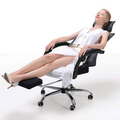 #6. Hbada High-Back Lumbar Support Ergonomic Office Recliner Chair