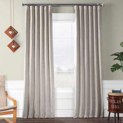 5. HPD HALF PRICE DRAPES Faux Linen BOCH-LN1858-96 Blackout Room Curtains
