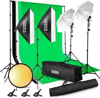 5. ESDDI Lighting Kit with a Portable Bag