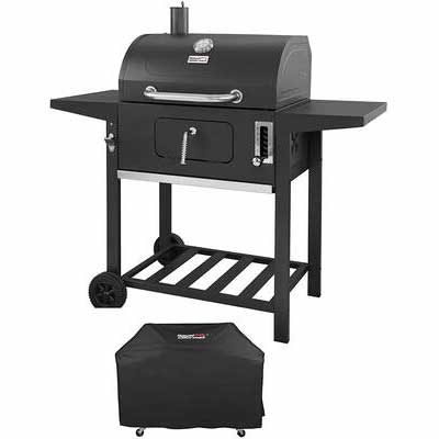 8. Royal Gourmet CD1824AC 24Inch Patio Backyard Cooking Charcoal Grill BBQ Outdoor (Black)