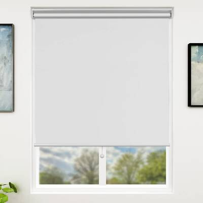 3. SUNFREE White 31x72 Cordless Spring Lifting Unit Blackout Window Blinds for Office & Home