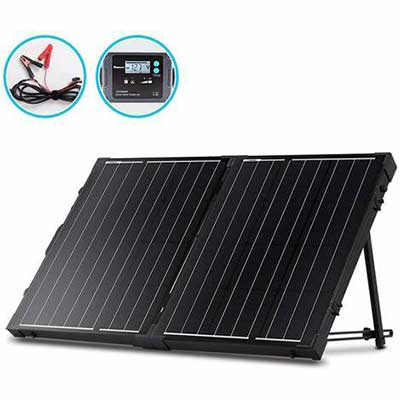 1. Renogy 12V 100W Monocrystalline Off-Grid Portable 2-Pcs 50W Solar Panel Suitcase