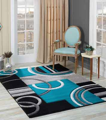 #3. Glory Rugs Area Rug with a Premium Fluffy Texture - Perfect for Living, Dining, and Bedroom