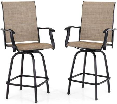 6. PHI VILLA Bar Stools - All-Weather, 2 Pack