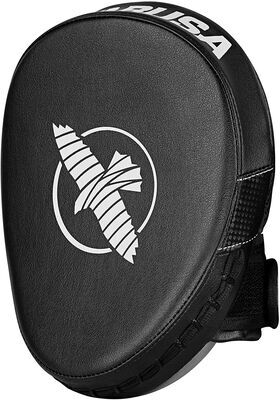 3. HAYABUSA MUAY THAI Micro-Focus Light Compact PTS 3 Focus Mitts (Black)