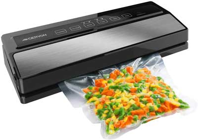 4. GERYON Vacuum Sealer Machine, LED Indicator Lights with a Compact Design (Silver)