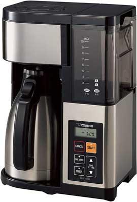 3. Zojirushi Black Stainless Steel Mesh 10-Cup EC-YTC100XB Drip Coffee Maker