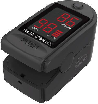 #8. TrackAid Portable & Compact Pulse Oximeter Finger Oxygen Saturation & Pulse Rate Monitor